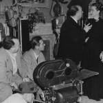 """Sul set de """"Il caso Paradine"""", 1947, con Alida Valli"""