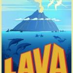 La locandina internazionale del cortometraggio Lava.