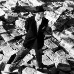 Orson Welles in una delle immagini-simbolo di Quarto potere, 1941.