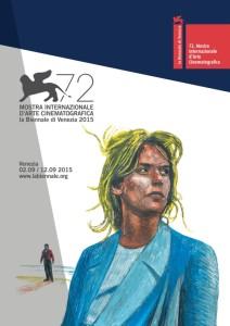 Il manifesto di Venezia 72, disegnato per il quarto anno consecutivo da Andrea Massi