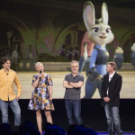 Byron Howard, Ginnifer Goodwin, Rich Moore, Clark Spencer introducono