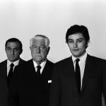 """Un trio di colossi. Lino Ventura, Jean Gabin e Delon ne """"Il clan dei siciliani"""", 1969"""