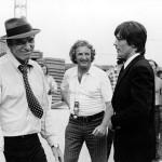 """Delon ritrova Burt Lancaster sul set di """"Scorpio"""", 1973"""