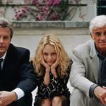 """Alain Delon, Vanessa Paradis e Jean-Paul Belmondo in """"Uno dei due"""", 1998"""