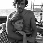 Delon e la prima moglie, Nathalie, 1964