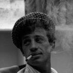 Un giovane Belmondo sul set di 'Fino all'ultimo respiro' (1960)