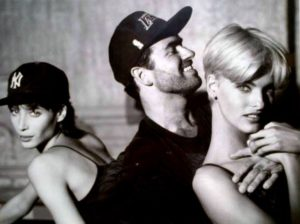 George Michael con le top model Christy Turlington e Linda Evangelista