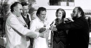Michel Piccoli, Philippe Noiret, Ugo Tognazzi, Andréa Ferréol e Marco Ferreri