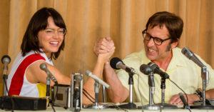 """Maschi contro femmine: il trailer de """"La battaglia dei sessi"""" con Emma Stone e Steve Carell"""