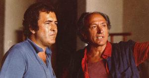 """Bernardo Bertolucci e Carlo Di Palma sul set del film """"La tragedia di un uomo ridicolo"""" (1981)"""