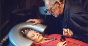 """Con Max Von Sydow in """"Fino alla fine del mondo"""" (1991)"""