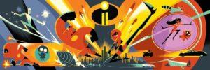 """Un artwork ufficiale di """"The Incredibles 2"""" presentato al D23 Expo 2017"""