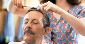 """Con Anna Galiena ne """"Il marito della parrucchiera"""" (1990)"""