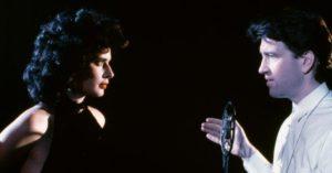 Isabella Rossellini e Lynch sul set di Velluto Blu (1986)
