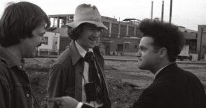 Lynch e Jack Nance sul set di Eraserhead (1977)