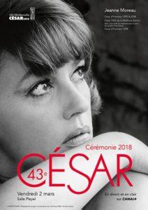 La locandina ufficiale dei César 2018