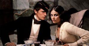 Con Alain Delon, ne Il Gattopardo di Luchino Visconti